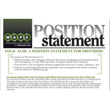 Folic Acid: A Position Statement for Providers (Only available as a download)